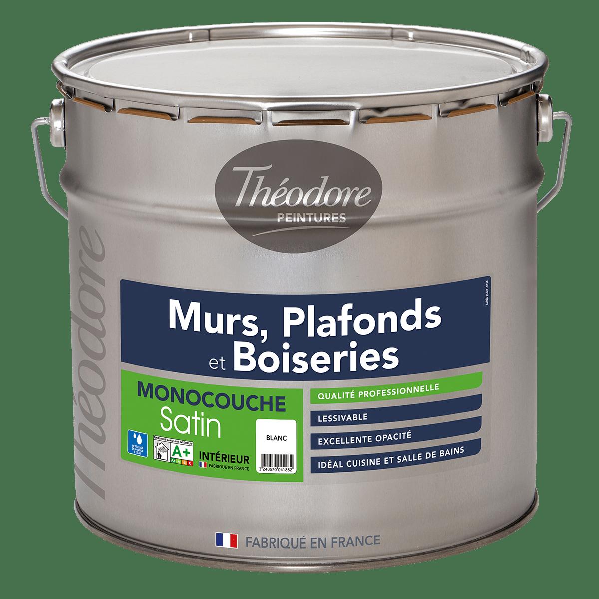 MURS, PLAFONDS ET BOISERIES SATIN MONOCOUCHE
